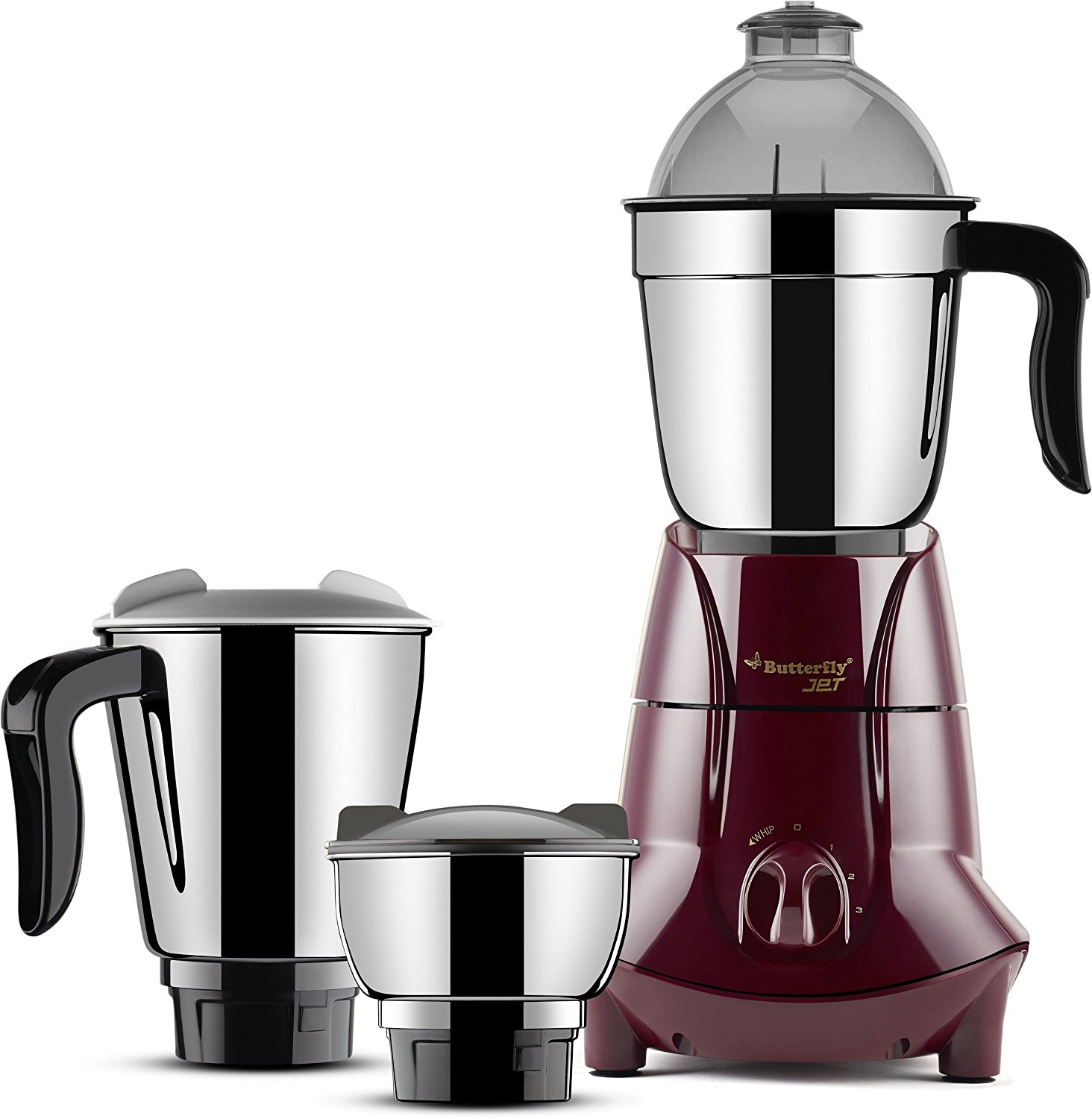 Butterfly Jet 750-Watt Mixer Grinder with 3 Jars
