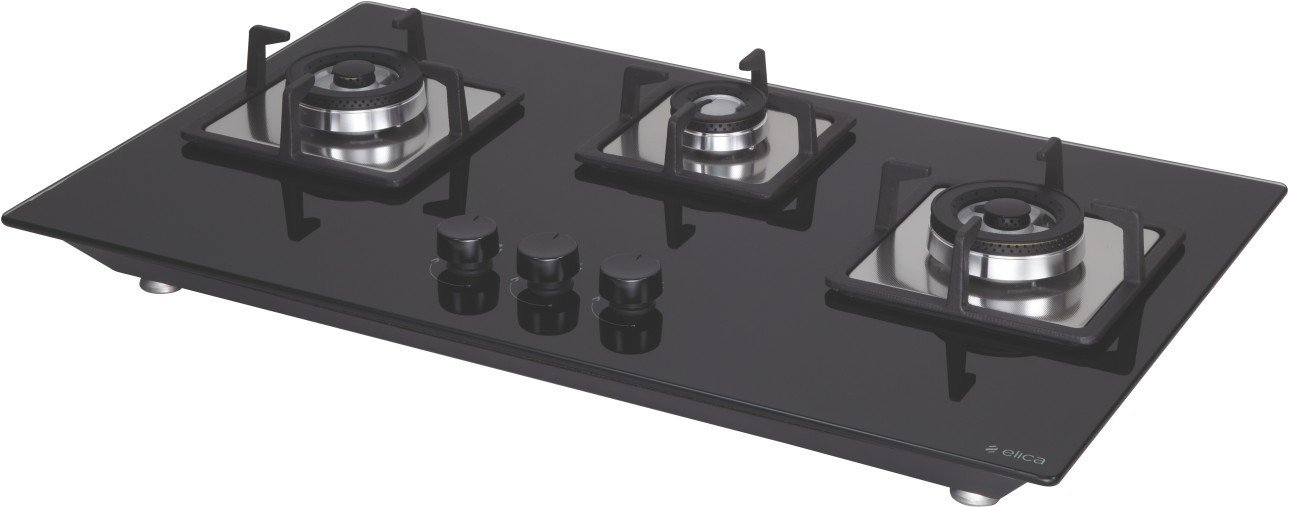 Elica Three Brass Burner Cooktop Hob (Flexi Brass Hct 375 Dx)