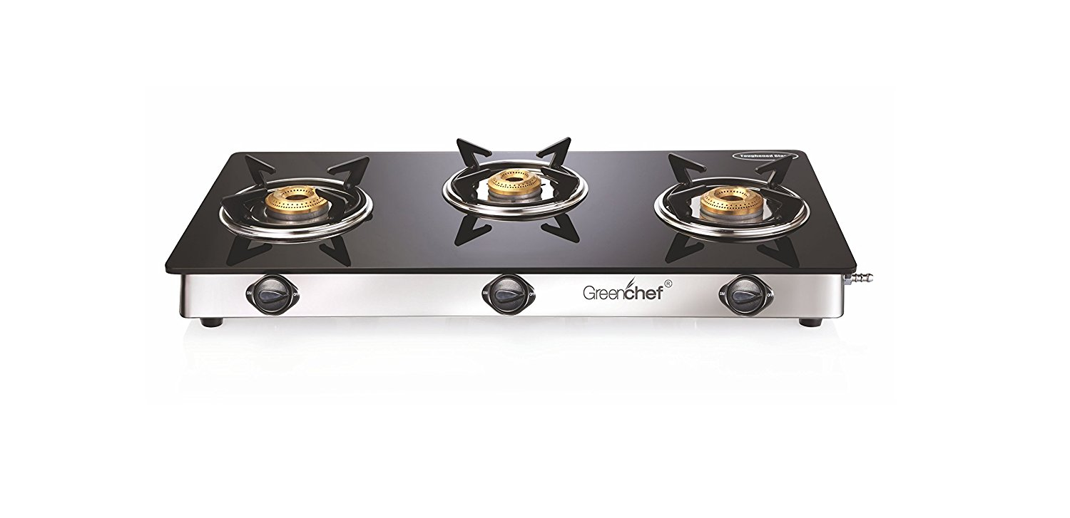 Greenchef Glasstop Namo 3 Burner Gas Stove