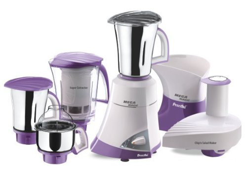 Preethi Mega Magic MG 175 A 600-Watt Mixer Grinder with 4 Jars